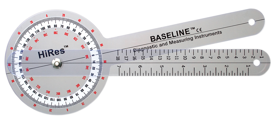 Baseline GONIOMETER plastic high resolution 12 inch