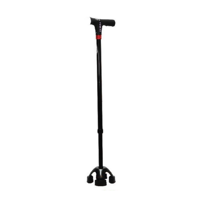Agegracefully WS-42 Smart Small Quad Walking S-Quad Walking Stick (MP3 Handle)