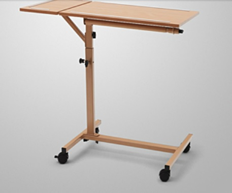 Adjustable Bed Base >> Burmeier Duo Overbed Table | Hospital Bed Accessories