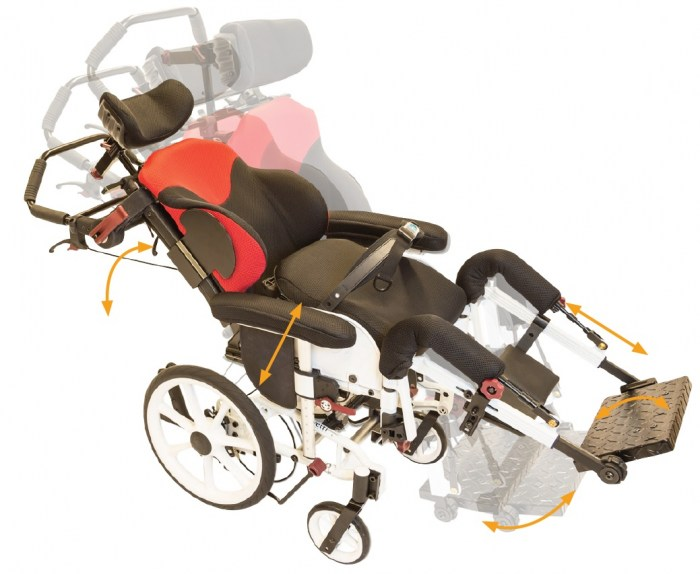 Netti dynamic S cerebral palsy wheelchair