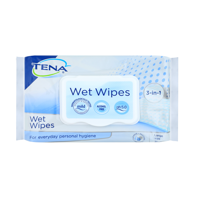 TENA 3in1 Wet Wipes_1 50s PNG