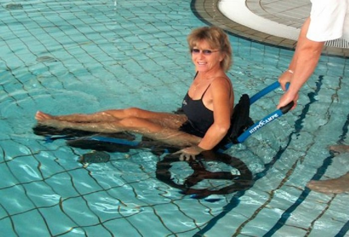 Vipamat hippocampe swimming pool access wheelchair 0