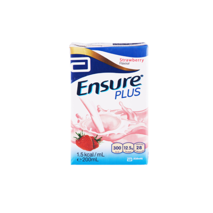 Ensure Plus Strawberry 200ml x 27s/Ctn - S$65.00